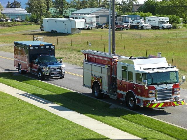 Pojazdy uprzywilejowane, straż pożarna